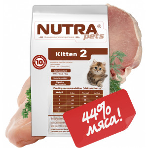 NUTRA pets Feline Kitten сухий корм для кошенят 2 кг (пробник)