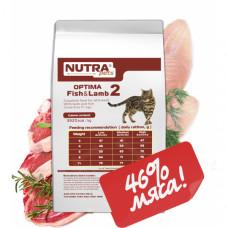 NUTRA pets Feline Adult OPTIMA Fish & Lamb сухий корм для дорослих котів з рибою і ягням 10 кг + Подарунок!