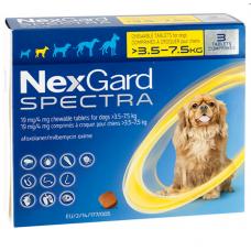 NexGard Spectra НЕКСГАРД СПЕКТРА 1 г таблетки от блох, клещей, гельминтов для собак 3,5-7,5кг (цена за 1 штуку)