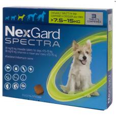 NexGard Spectra НЕКСГАРД СПЕКТРА 2 г таблетки от блох, клещей, гельминтов для собак 7,5-15кг (цена за 1 штуку)