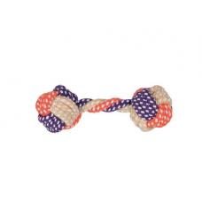 Игрушка для собак Trixie Гантель плетёная 15 см (текстиль)
