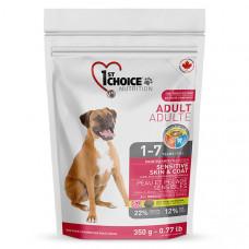 1st Choice Sensitive Skin & Coat Adult Lamb & Fish сухий корм для дорослих собак з ягням і рибою, 15 кг.
