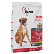 1st Choice Sensitive Skin & Coat Adult Lamb & Fish сухий корм для дорослих собак з ягням і рибою, 7 кг.