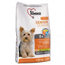 1st Choice Senior ФЕСТ ЧОЙС сухой корм для пожилых или малоактивных собак мини и малых пород 2.72 кг.