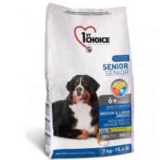 1st Choice ФЕСТ ЧОЙС сухий корм для літніх або малоактивних собак середніх і великих порід, 7 кг