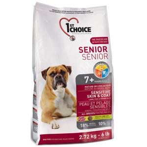 1st Choice Senior ФЕСТ ЧОЙС сухий корм для літніх собак з ягням і океанічною рибою 2,72 кг.