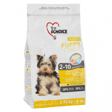 1st Choice Toy & Small Puppy Chicken ФЕСТ ЧОЙС сухий корм для цуценят міні та малих порід з куркою, 2.72 кг.