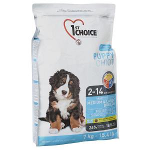 1st Choice Medium&Large Puppy Chicken сухой корм для щенков средних и крупных пород с курицей 7 кг.