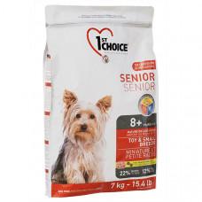 1st Choice Senior ФЕСТ ЧОЙС СЕНЬОР сухой корм для пожилых или малоактивных собак мини и малых пород 7 кг.