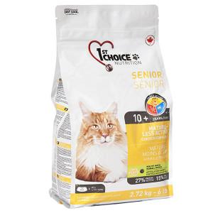 1st Choice Senior Mature Less Aktiv ФЕСТ ЧОЙС СЕНЬОР сухой корм для пожилых или малоактивных котов, 2.72 кг.