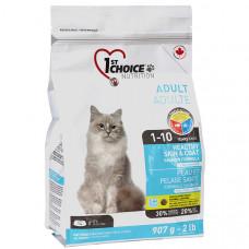 1st Choice Healthy Skin&Coat Adult сухой корм для котов для здоровой кожи и шерсти с лососем, 0,907 кг.