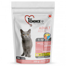 1st Choice Indoor Vitality Adult ФЕСТ ЧОЙС ВИТАЛИТИ сухой корм для котов всех пород с курицей, 0,35 кг.