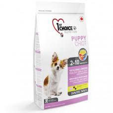 1st Choice Puppy сухой корм для щенков мини и малых пород с ягненком и рыбой, 2.72 кг.