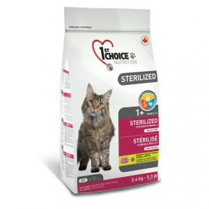 1st Choice Sterilized Chicken сухой корм для кастрированных котов и стерилизованных кошек, с курицей 2,4 кг.