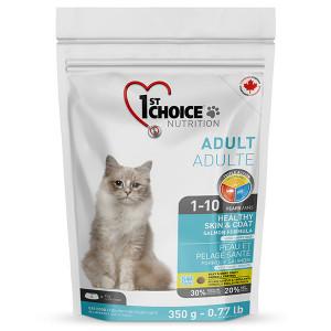 1st Choice Healthy Skin&Coat Adult сухой корм для котов, для здоровой кожи и шерсти с лососем, 5.44 кг.