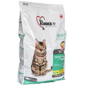 1st Choice Weight Control Adult сухой корм контроль веса для кошек склонных к полноте 10 кг.
