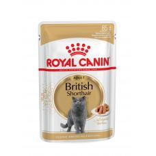 Royal Canin British Shorthair Adult консервы для кошек (британская короткошерстная) от 12 месяцев 0,085 кг.