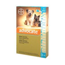 Капли на холку для собак Bayer «Advocate» (Адвокат) от 4 до 10 кг, 3 пипетки (от внешних и внутренних паразитов)