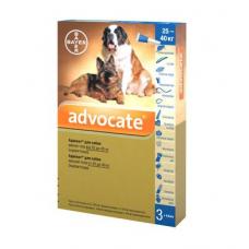 Капли на холку для собак Bayer «Advocate» (Адвокат) от 25 до 40 кг, 3 пипетки (от внешних и внутренних паразитов)