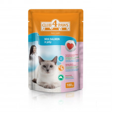 Клуб 4 Лапы влажный корм для взрослых котов с лососем в желе 0,1 кг