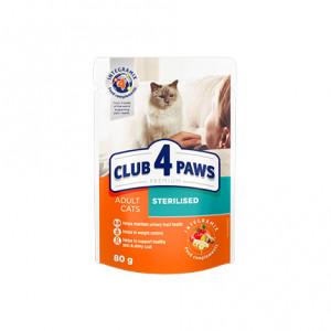 Клуб 4 Лапы влажный корм для взрослых стерилизованных котов 0,08 кг