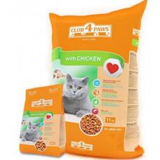 Клуб 4 Лапы сухой корм для взрослых котов с курицей 0,3 кг