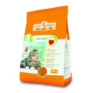 Клуб 4 Лапы сухой корм для взрослых стерилизованных котов 0,3 кг