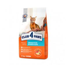Клуб 4 Лапы сухой корм для котов с чувствительным пищеварением 5 кг