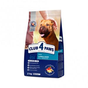 Клуб 4 Лапы сухой корм для взрослых собак всех пород с ягненком и рисом 2 кг