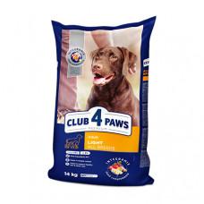Клуб 4 Лапы сухой корм для собак всех пород контроль веса 14 кг