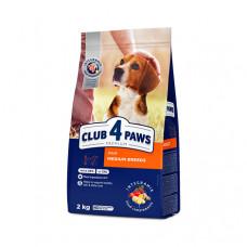 Клуб 4 Лапы сухой корм для собак средних пород 2 кг