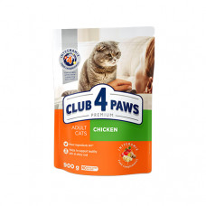 Клуб 4 Лапы сухой корм для взрослых котов с курицей 0,9 кг