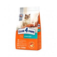 Клуб 4 Лапы сухой корм для взрослых стерилизованных котов 2 кг