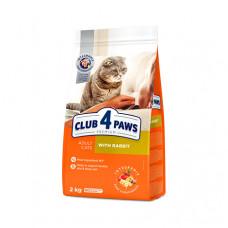 Клуб 4 Лапы сухой корм для взрослых котов с кроликом 2 кг