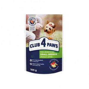 Клуб 4 Лапы влажный корм для взрослых собак с курицей в желе 0,1 кг