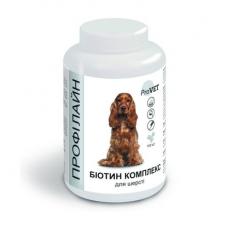 Витаминно-минеральная добавка для собак ProVET Профилайн Биотин комплекс 100 табл, 123 г (для шерсти)