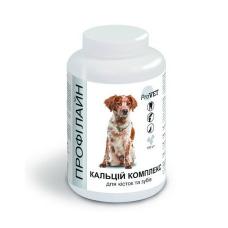 Витаминно-минеральная добавка для собак ProVET Профілайн Кальций комплекс 100 табл, 123 г (для костей и зубов)