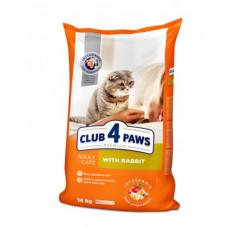 Клуб 4 Лапы сухой корм для взрослых котов с кроликом 14 кг