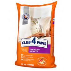 Клуб 4 Лапы сухой корм для взрослых котов с поддержкой мочевой системы 14 кг