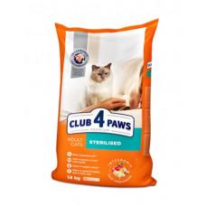 Клуб 4 Лапы сухой корм для стерилизованных котов 14 кг