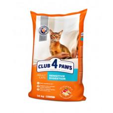 Клуб 4 Лапы сухой корм для котов с чувствительным пищеварением 14 кг