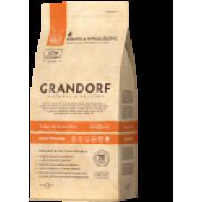Grandorf Turkey & Brown Rice сухой корм для стерилизованных котов с индейкой и рисом 2кг