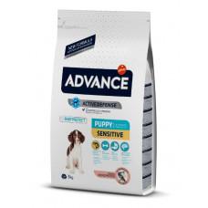 Advance Dog Puppy Sensitive сухой корм для щенков всех пород с чувствительным пищеварением 3 кг