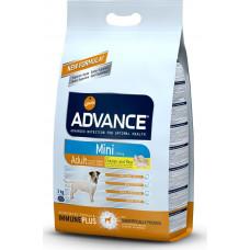 Advance Dog Mini Adult сухой корм для взрослых собак малых пород с курицей 3 кг
