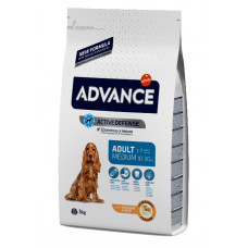 Advance Dog Medium Adult сухой корм для взрослых собак средних пород с курицей 3 кг