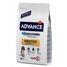 Advance Dog Med/Maxi Sensitive Salmon&Rice сухой корм для собак с чувствительным пищеварением: лосось и рис 3 кг