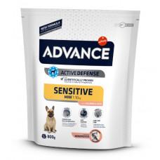 Advance Dog Mini Sensitive сухой корм для собак малых пород с чувствительным пищеварением 0,8 кг