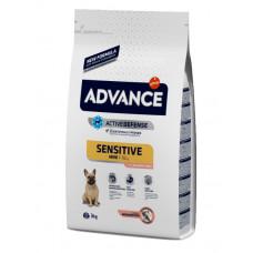 Advance Dog Mini Sensitive сухой корм для собак малых пород с чувствительным пищеварением 3 кг