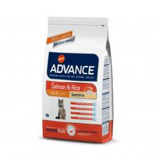 Advance Cat Salmon Sensitive сухой корм с мясом лосося для кошек с чувствительным пищеварением 1,5 кг