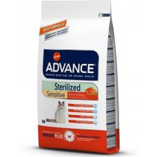 Advance Cat Sterilized Sensitive сухой корм для стерилизованных котов с чувствительным пищеварением 3 кг